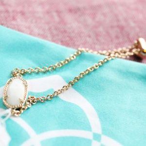 Kendra Scott Elaina Rose Gold/White Pearl Bracelet